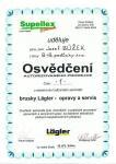 B+B podlahy - certifikát Lägler